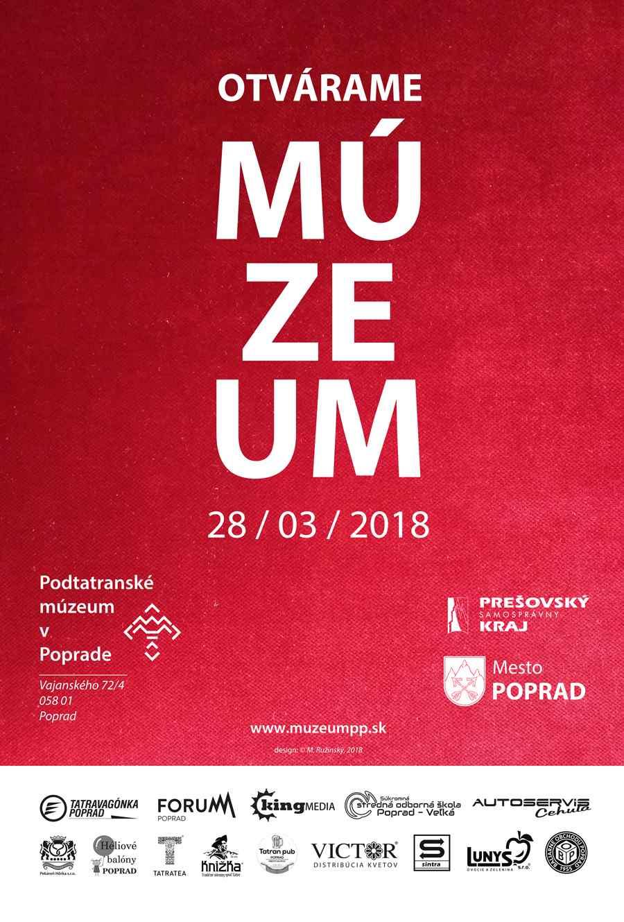 Poďakovanie Podtatranske múzeum